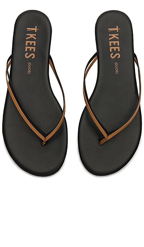 TKEES Duos Sandal in Black