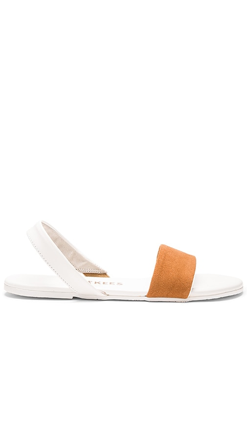 TKEES The Charlie Sandal in White