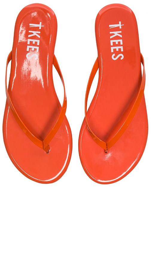 TKEES Glosses Sandal in Red Apple