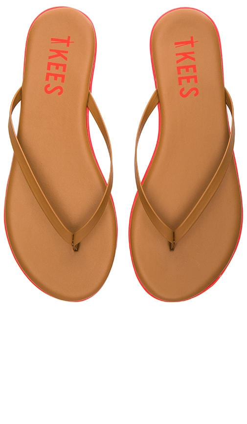 TKEES Lip Liners Sandal in Tan