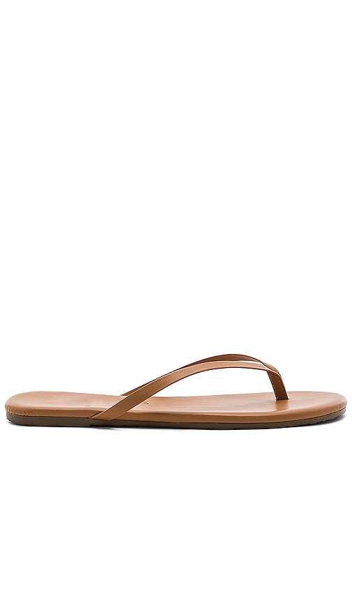 TKEES Foundations Flip Flops in Tan