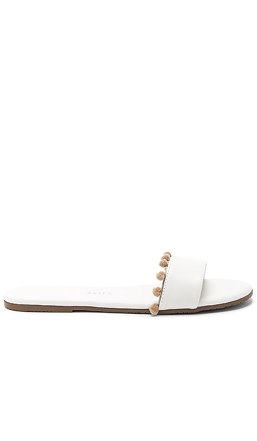 TKEES Alex Sandal in White