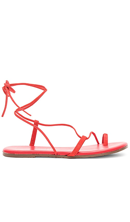TKEES Jo Sandal in Red