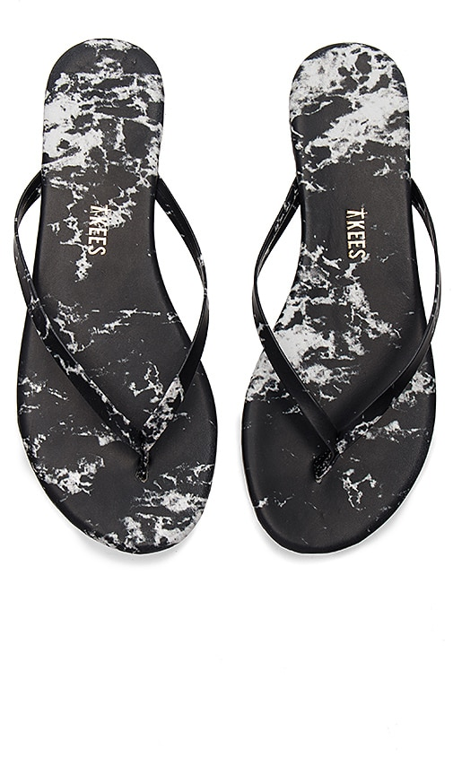 TKEES Marble Sandal in Black