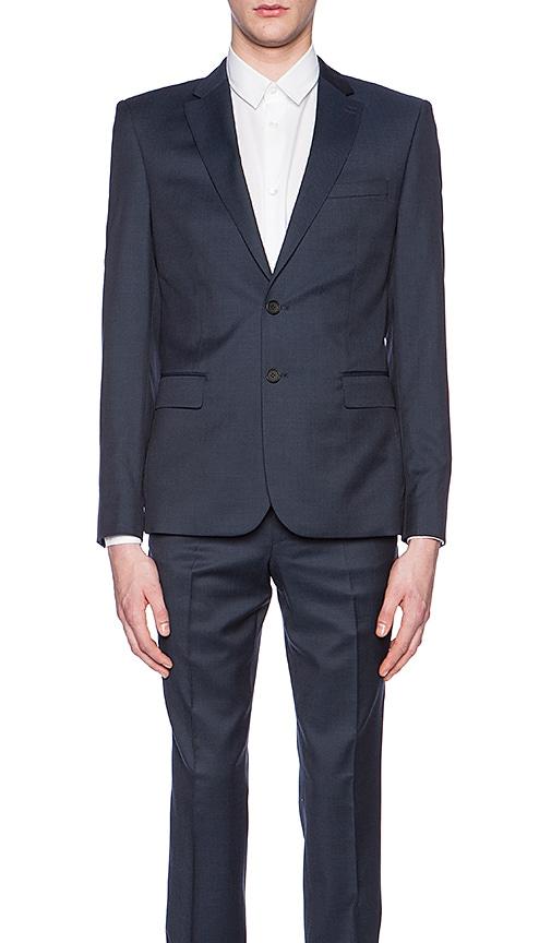 The Kooples Tone Suit Blazer in Blue