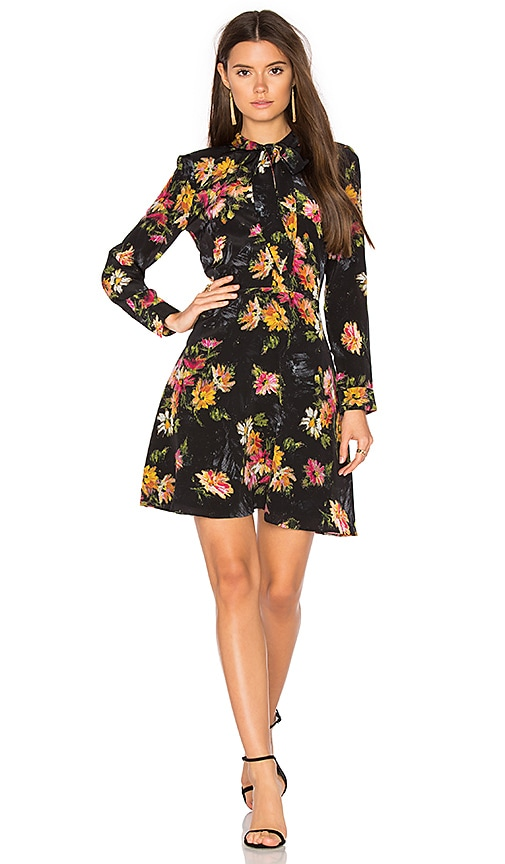The Kooples Fireworks Flower Dress in Black