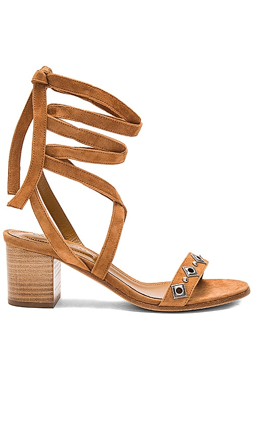 The Kooples Strappy Stud Sandal in Tan