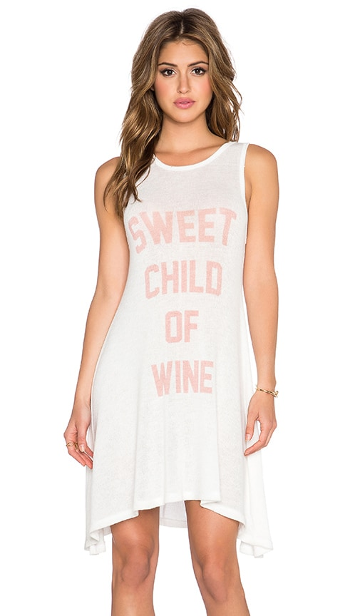 The Laundry Room Sweet Child of Wine Shirt Dress in White