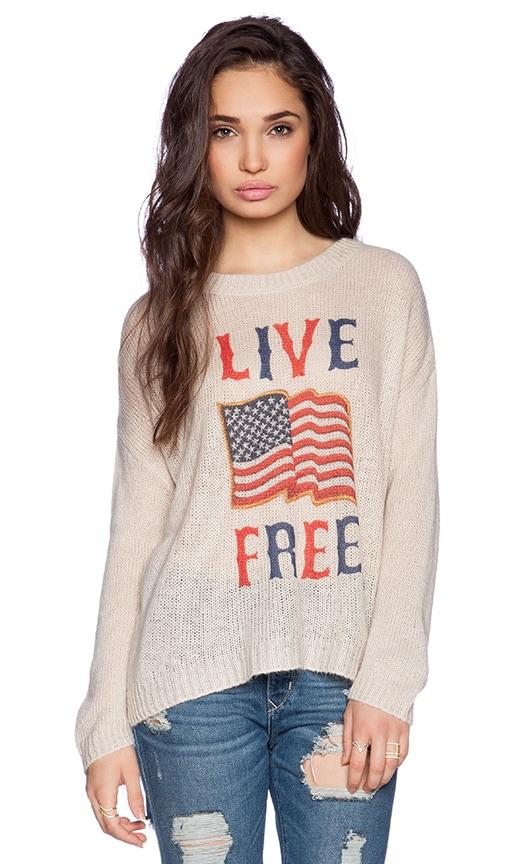Live Free Beach Bum Sweater