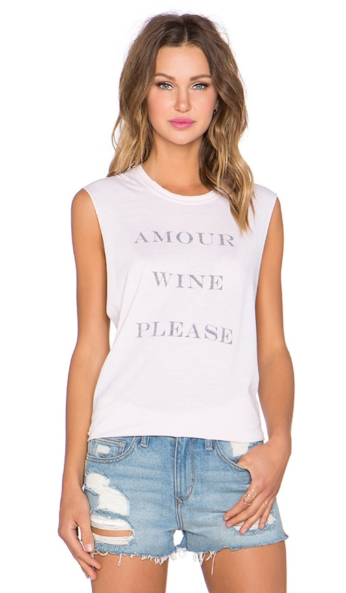 Amour Wine Please Muscle Tee