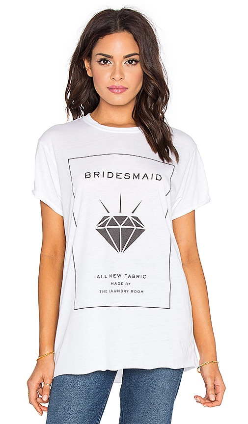 Bridesmaid Label Rolling Tee