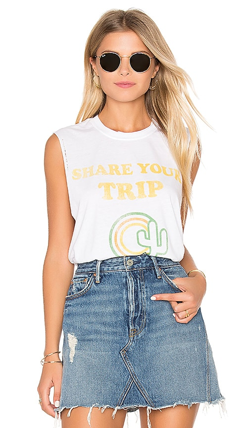 The Laundry Room Share Your Trip Poster Muscle Tank in White