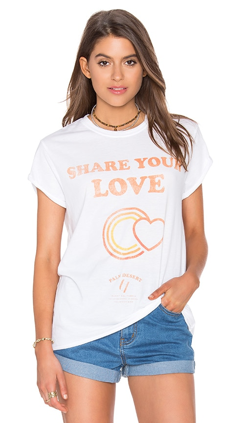 The Laundry Room Share Your Love Poster Rolling Tee in White