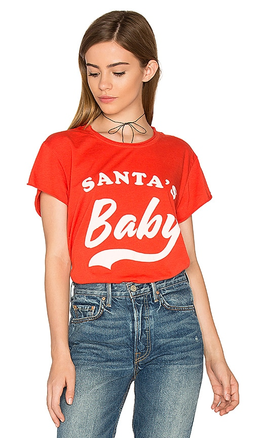 The Laundry Room Santa's Baby Rolling Tee in Red