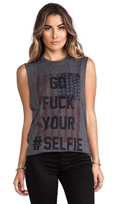 Selfie Flag Muscle Tee