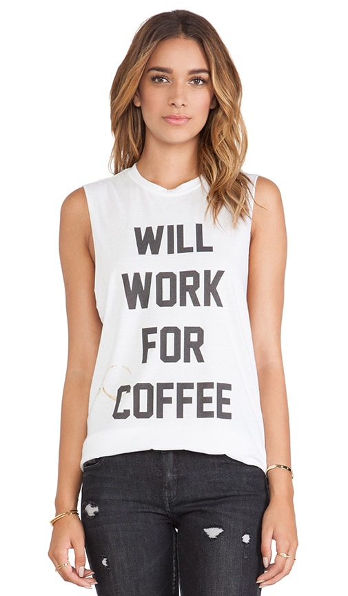 Will Work for Coffee Muscle Tee