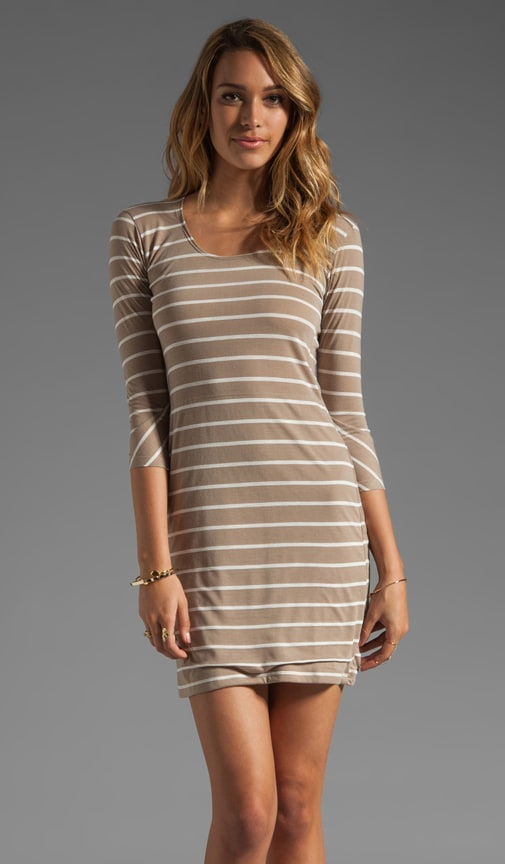 Stripe Scoop Neck Dress