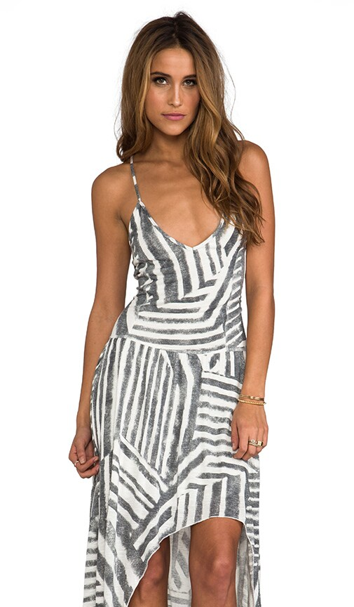 Tribal Stripe High Low Dress