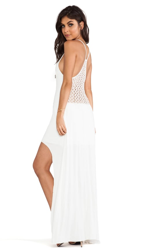 Crochet Back High Low Dress