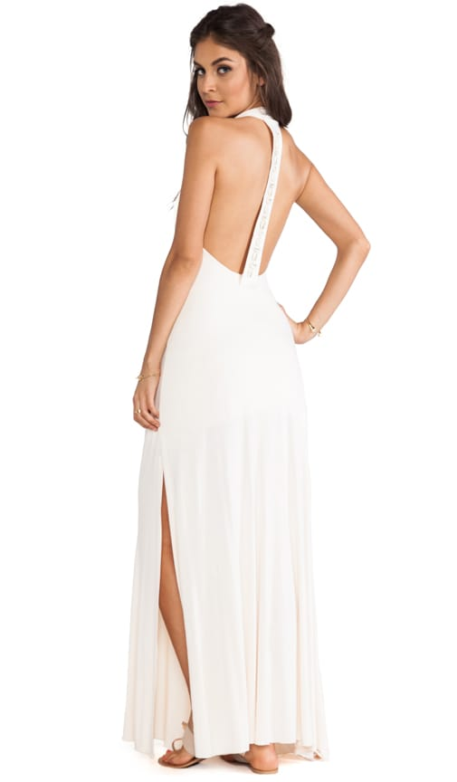 Cowrie Open Back Maxi Dress