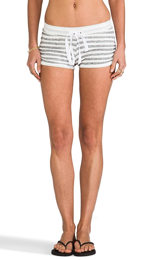 Stripe Drawstring Rouche Shorts