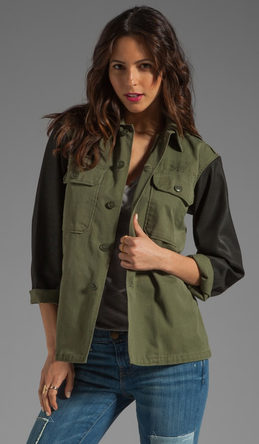 Vintage Redux Military Jacket with Spray Sleeves