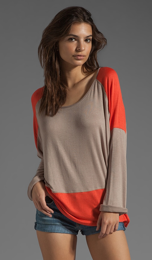 Color Block Long Sleeve Tee