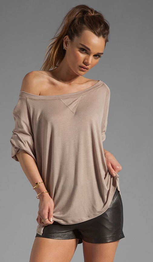 Off The Shoulder Tee Weight Jumper