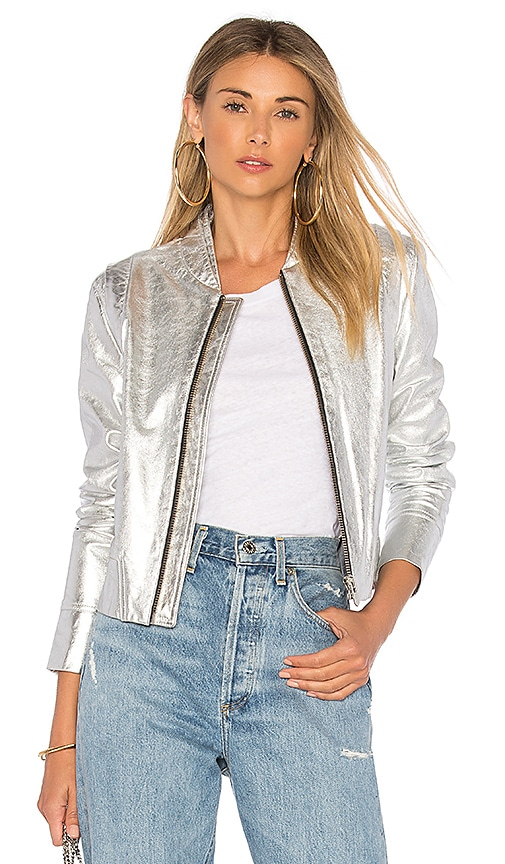 The Mighty Company The Loire Jacket in Metallic Silver