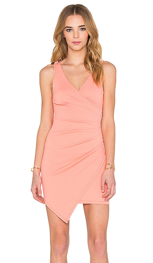 tiger Mist Found You Mini Dress in Coral