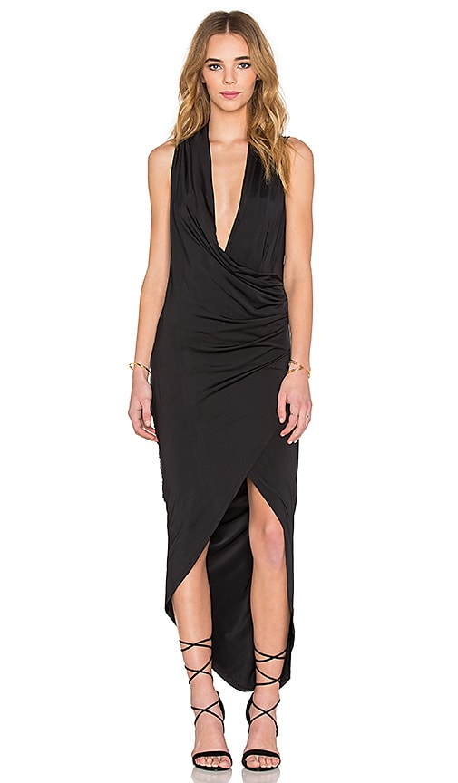 tiger Mist Bosworth Midi Dress in Black