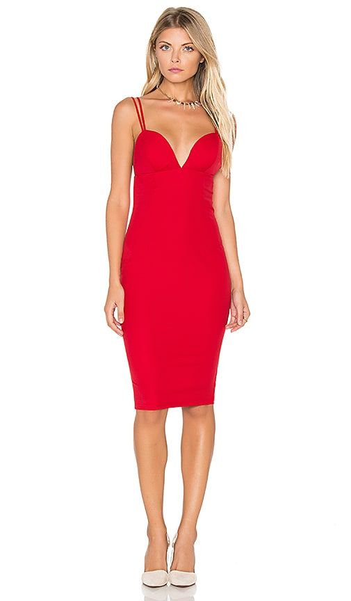 tiger Mist Worth It Midi Dress in Red