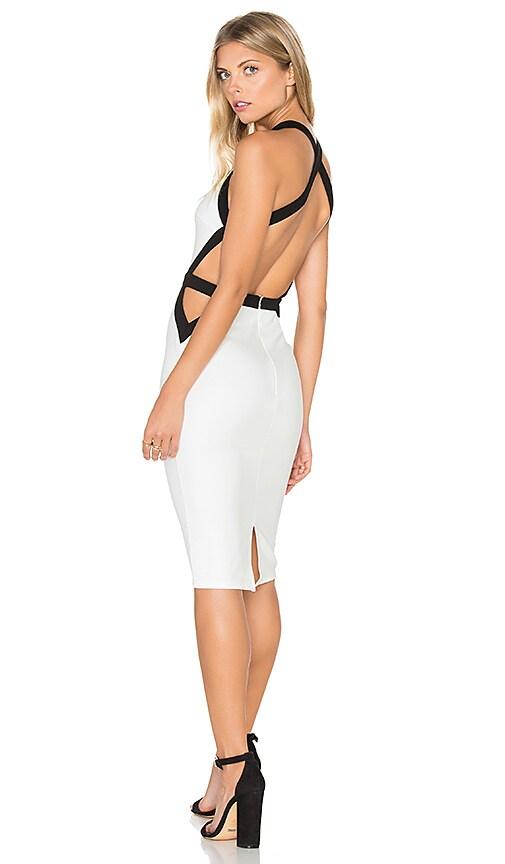 tiger Mist Trapeze Midi Dress in White