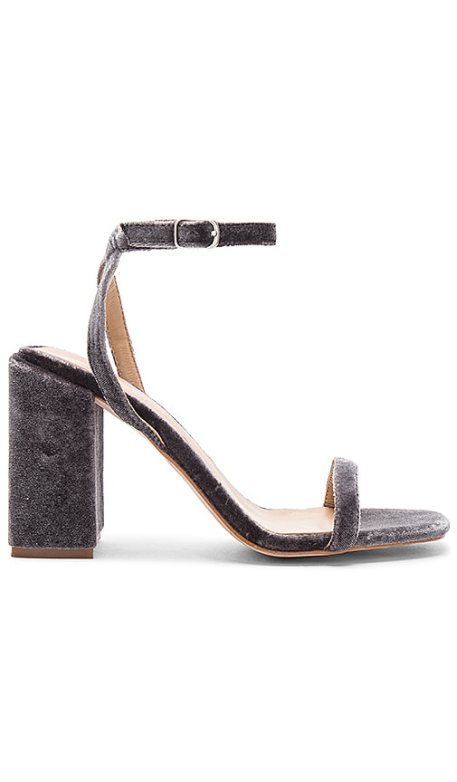 The Mode Collective Block Party Sandal in Charcoal
