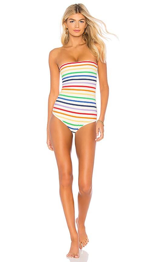 7831e3f501 TM Rio de Janeiro Paraty One Piece in Rainbow Stripes | REVOLVE