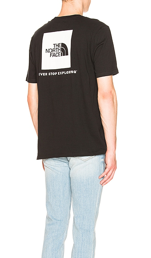 The North Face Red Box Tee in Black