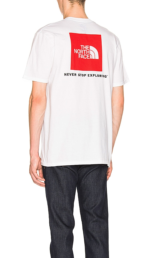 The North Face Red Box Tee in White