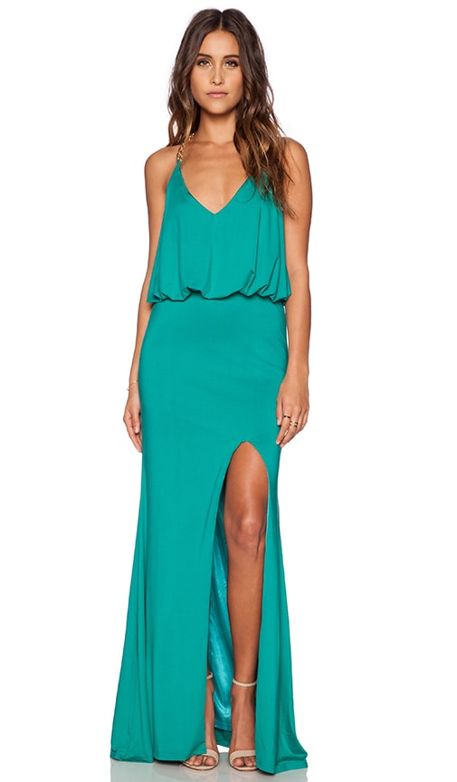 Toby Heart Ginger x Love Indie Chain T Back Maxi Dress in Green