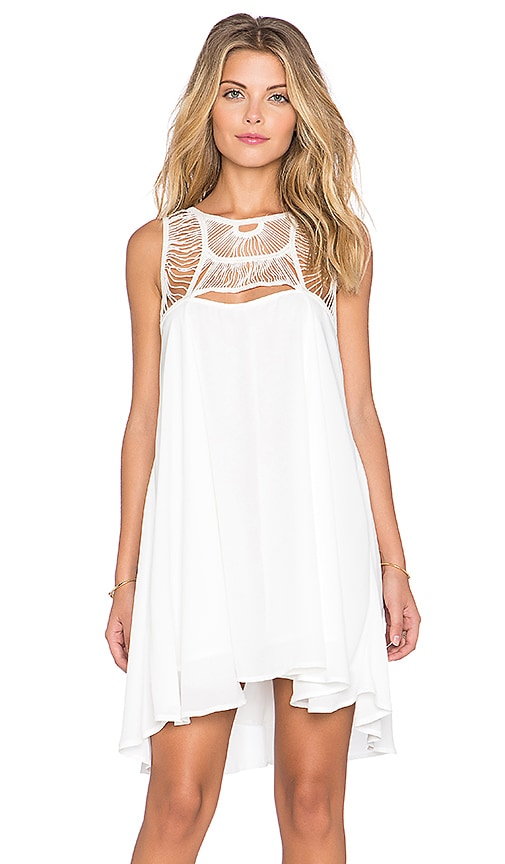 Toby Heart Ginger x Love Indie Rainbow Crochet Swing Dress in White
