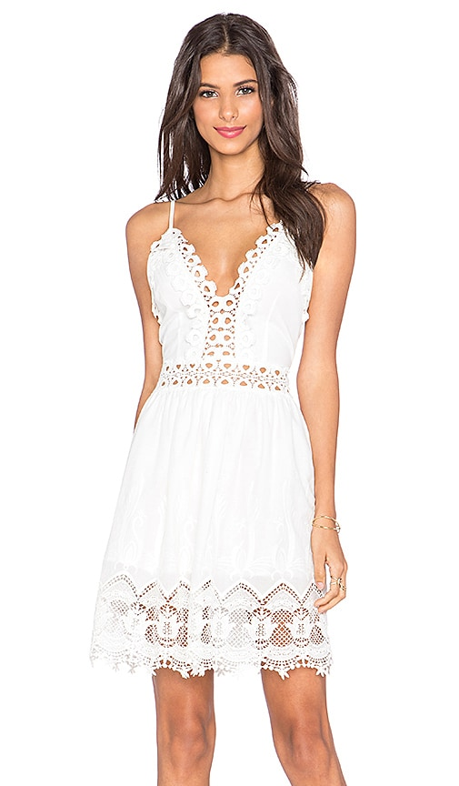 x Love Indie Daydreamer Crochet Mini Dress