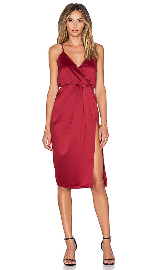 Toby Heart Ginger x Love Indie x REVOLVE Exclusive Sleeveless Scarlett Split Dress in Burgundy