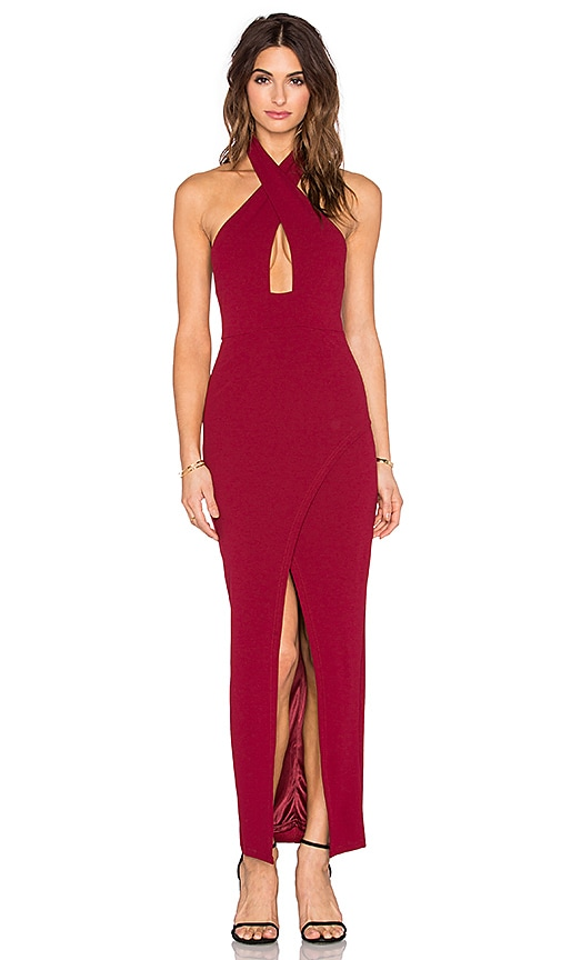 Toby Heart Ginger x Love Indie Doll Cross Front Maxi Dress in Wine