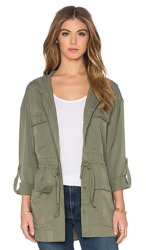 Toby Heart Ginger Hooded Anorak Jacket in Army
