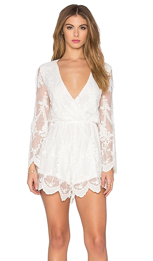 Lace Billow Front Playsuit