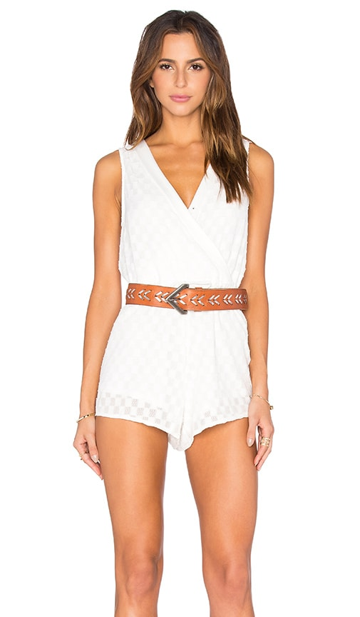 Toby Heart Ginger Stella Sheer Billow Front Romper in White