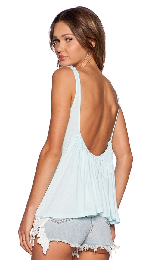 Toby Heart Ginger Scoop Back Top in Baby Blue
