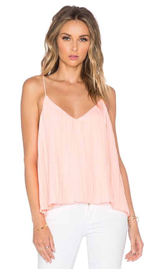 Toby Heart Ginger Lola Pleat Swing Tank in Neon Coral