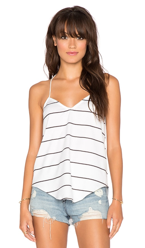 Toby Heart Ginger x Love Indie Little Cove Cami in Black & White Stripe