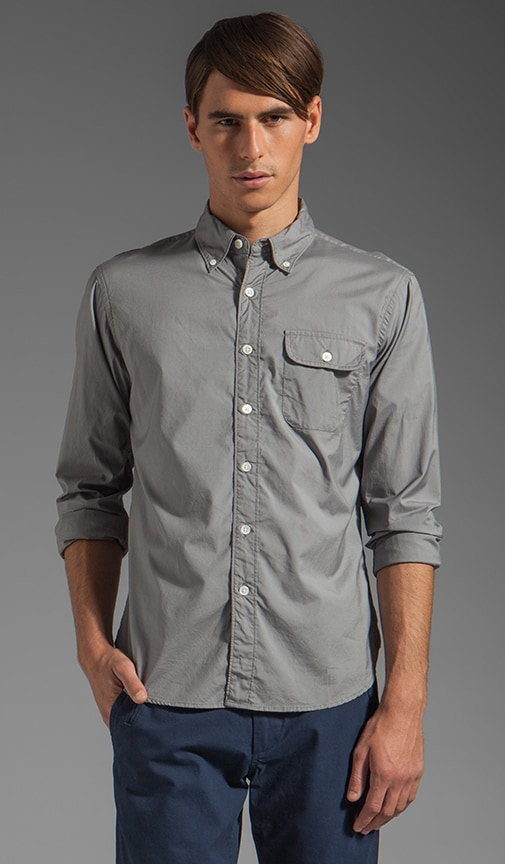 Solid Poplin Button Pocket Shirt