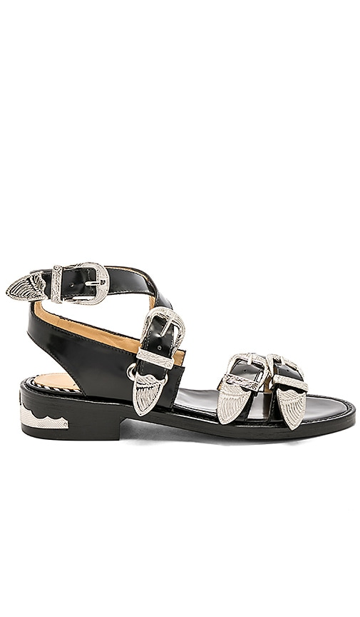 TOGA PULLA Buckle Polido Sandal in Black